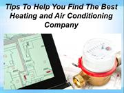 Find The Best Heating and Air Conditioning Company
