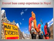 Everest base camp experience in Nepal