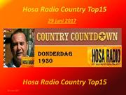 Hosa Radio Country Top 15 29 junie 2017