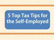 5 Top Tax Tips for the Self-Employed