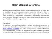 Drain Cleaning in Toronto
