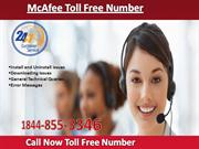 McAfee Toll Free Number 1844-855-3346 McAfee Helpline Number