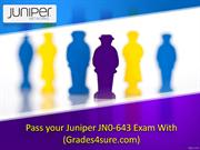 Get Latest Juniper JN0-643 Exam Questions
