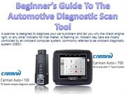Beginners Guide To The Automotive Diagnostic Scan Tool