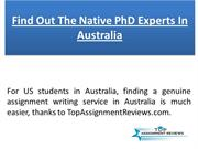 Find Out The Native PhD Expert In Australia