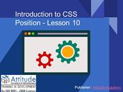 Introduction to CSS Position - Lesson 10