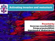 CELL INVASION AND METASTASIS