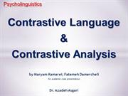 Contrastive Language & Contrastive Analysis