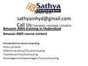 Amazon AWS – Best software training institute