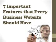 7 Important Features that Every Business Website Should