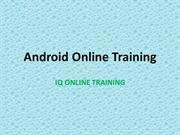 Android Online Training - IQ OnlineTraining