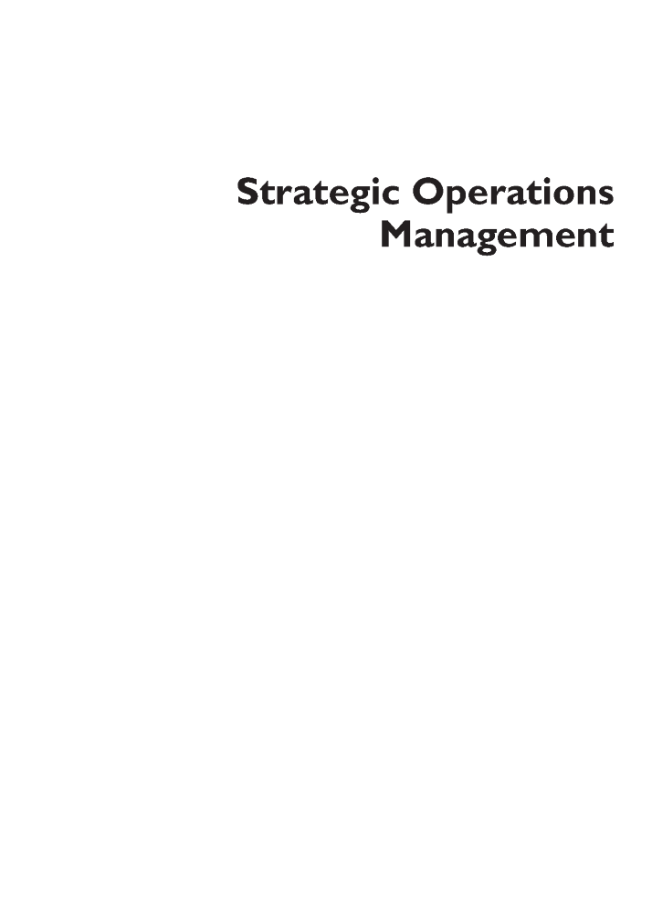 strategic operations management 2e steve brown and lamming authorstream