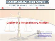 Liability in a Personal Injury Accident