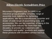 kilews electric screwdrivers price