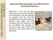 Basement Remodeling St Louis MO with Pro Contractor Services