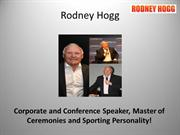 Conference Speakers - Rodney Hogg