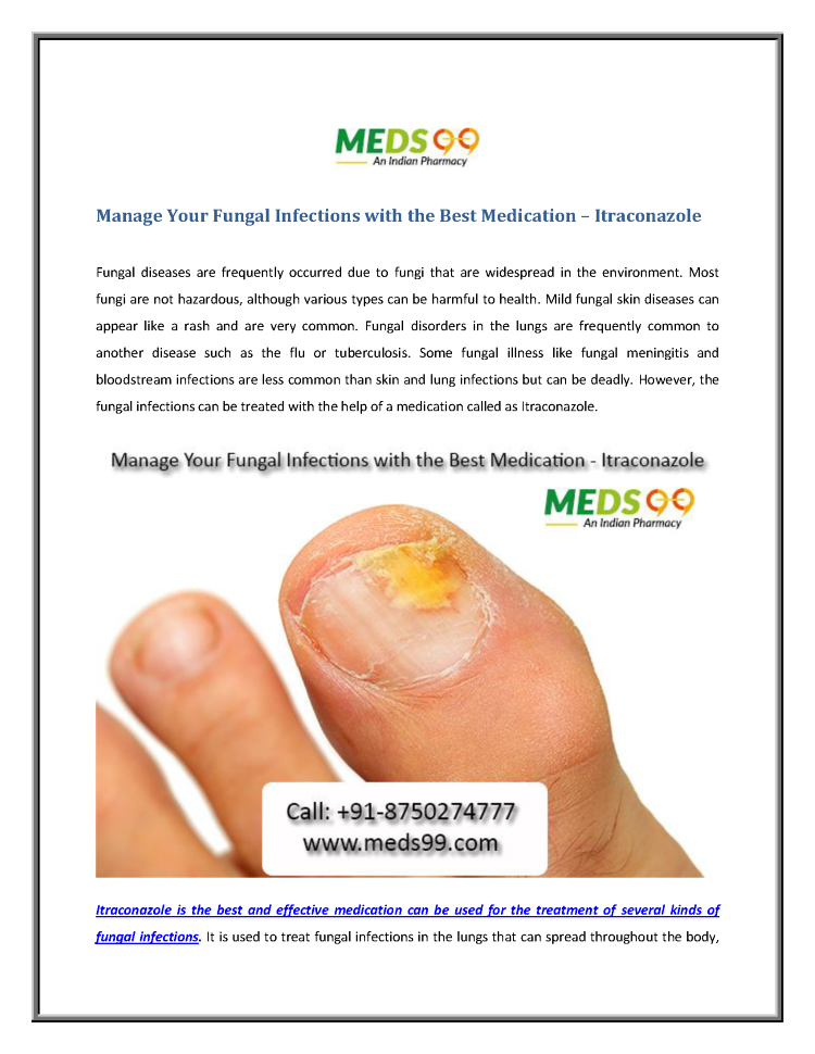 Manage Your Fungal Infections With the Best Medication - Itraconaz ...