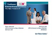 Business process Excellence the New Trend in IT