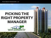 Picking the Right Property Manager