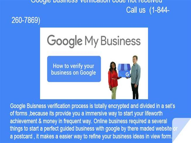 Google Business Verification Code Not Received (1-844-260
