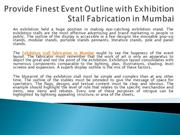 Provide Finest Event Outline with Exhibition Stall Fabrication