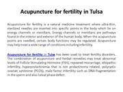 Acupuncture for fertility in Tulsa
