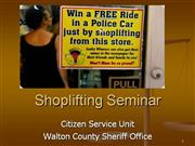 Shoplifting Seminar 2010