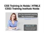 CSS Training in Noida, HTML5 CSS3 Training Institute Noida