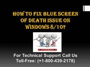 How to fix Blue Screen of Death issue