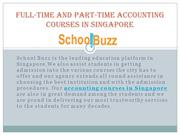 full-time and part-time accounting courses in singapore