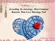 According To Astrology, Most Common Reasons That Love Marriage Fail