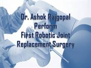 robotic knee replacement surgery