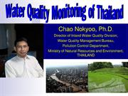 Water Quality Monitoring of Thailand by Dr.Chao Nokyoo
