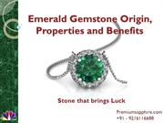 Emerald Gemstone Origin, Properties and Benefits