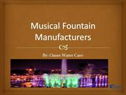 Musical Fountain Manufacturers