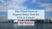 The Third Draw of Express Entry Pool for ITA in Canada - Kanan Interna
