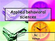 Applied behavioral sciences