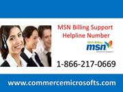 MSN billing Number 1-866-217-0669 and MSN Support