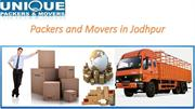 Packers and Movers in Jodhpur
