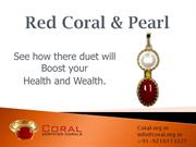 Red coral and Pearl Combination