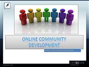 Online community development