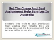 Get The Cheap And Best  Assignment Help Services For International Stu
