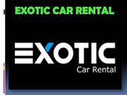 Exotic Car Rental Los Angeles CA