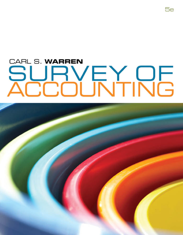 Survey of accounting 5e carl warren authorstream fandeluxe Image collections