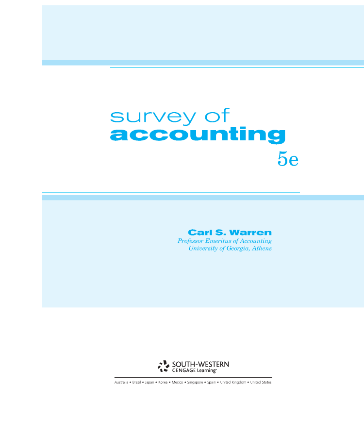 Survey of accounting 5e carl warren authorstream survey of accounting 5e carl warren fandeluxe Image collections