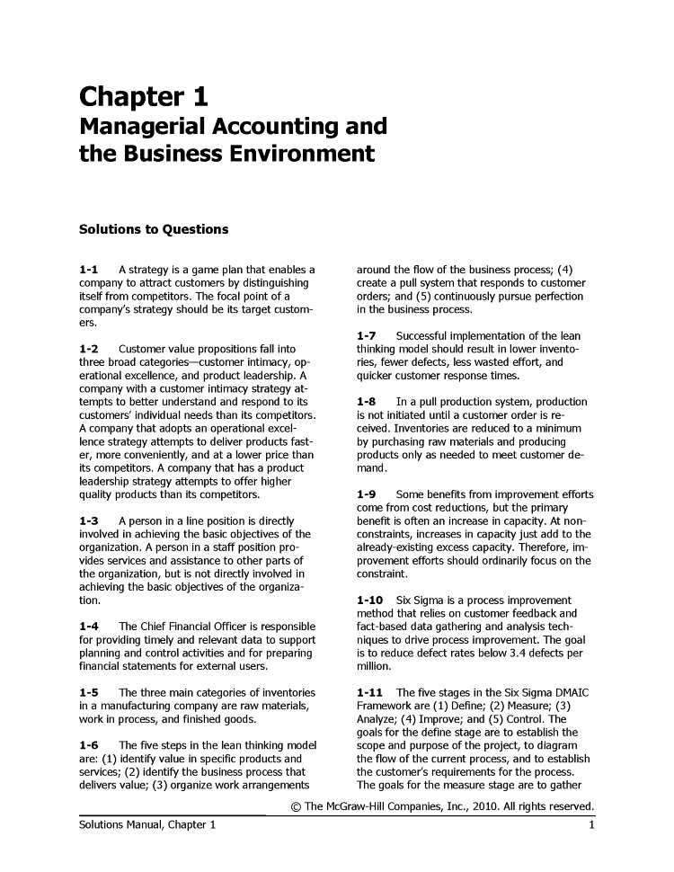 Solutions manual mangerial accounting 13e by garrison noreen solutions manual mangerial accounting 13e by garrison noreen fandeluxe Gallery