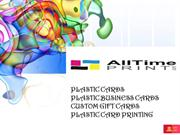 All time print - Plastic business cards