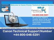 +44-800-046-5291 Canon printer technical support number- Canon Printer