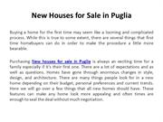 New houses for sale in Puglia