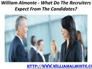 William Almonte - What Do The Recruiters Expect From The Candidates